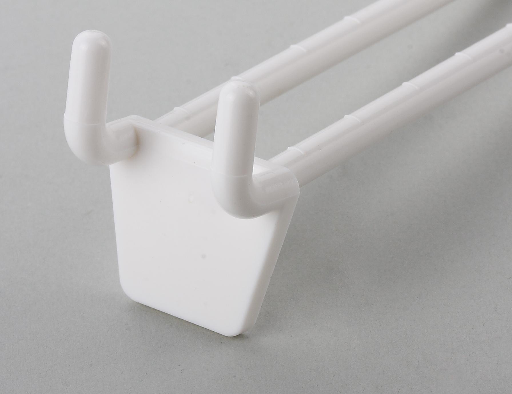 Loop Double Peg Chrome Coated Anti-sagging Grooved Ridged Hooks