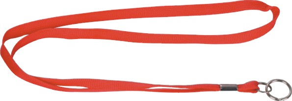 Tube Lanyard With Split Rings and Clamp