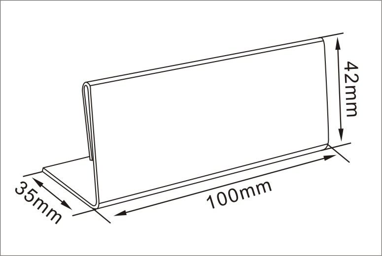 Sign Holder of A4 Acrylic Signage Solution Shelf Talker Wall Mounted
