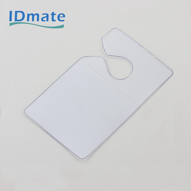 Vertical Pre-punched Pocket Badge Holder With Elastic Arm