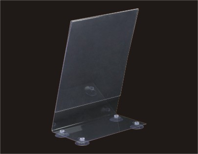 Sign Holder of Perpendicular Acrylic Signage Solution Wall Mounte with Suction Cup