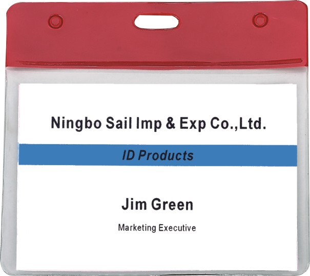 Burning Red Ahead Portrait Orientation Pre-punched Anti-dirty Soft Badge