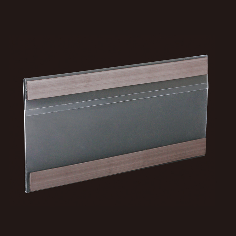 Clear Flat Chain Stores Shelf Attached Data Strips with Magnetic Strip
