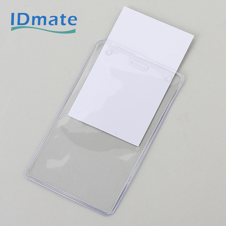 Enclosed Portrait Orientation Pre-punched Anti-dirty Soft Badge