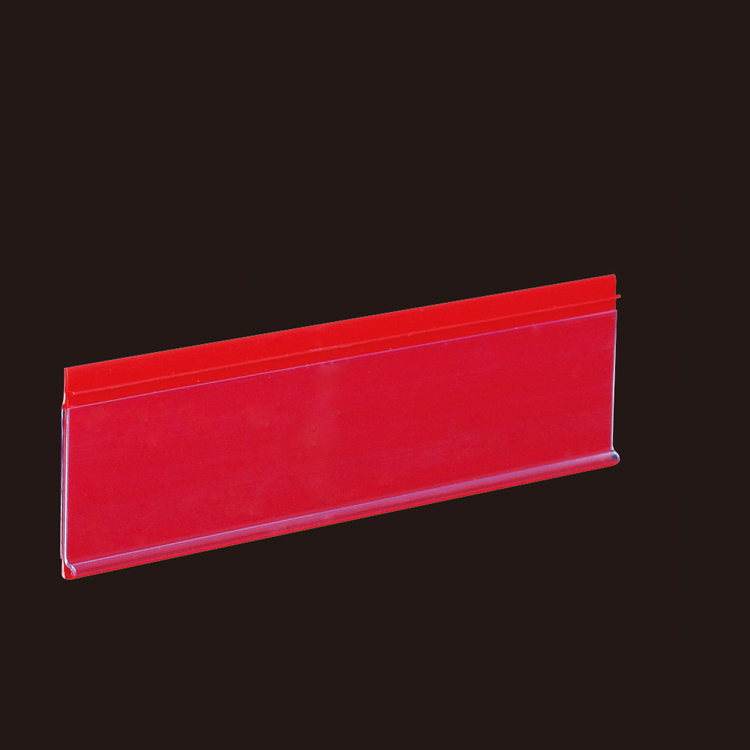 Scarlet Flat Chain Stores Exhibition Shelf Attached Data Strips