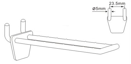 Double Peg Chrome Coated Anti-sagging Grooved Ridged Hooks