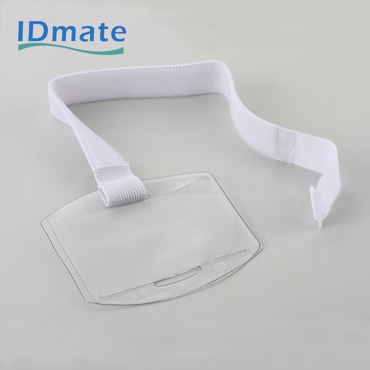 Oriented Pre-punched Armband Badge Holder For Securing Id