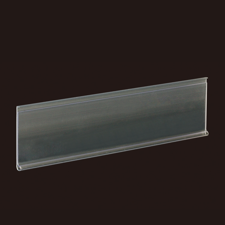 Transparent Perpendicular Chain Stores Exhibition Shelf Attached Data Strips