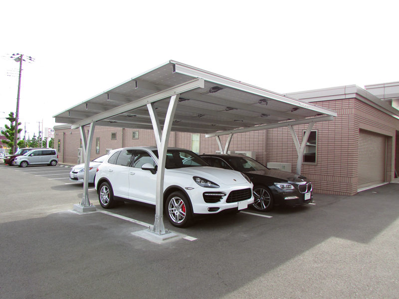 Double Pile Carport Solar Mounting System