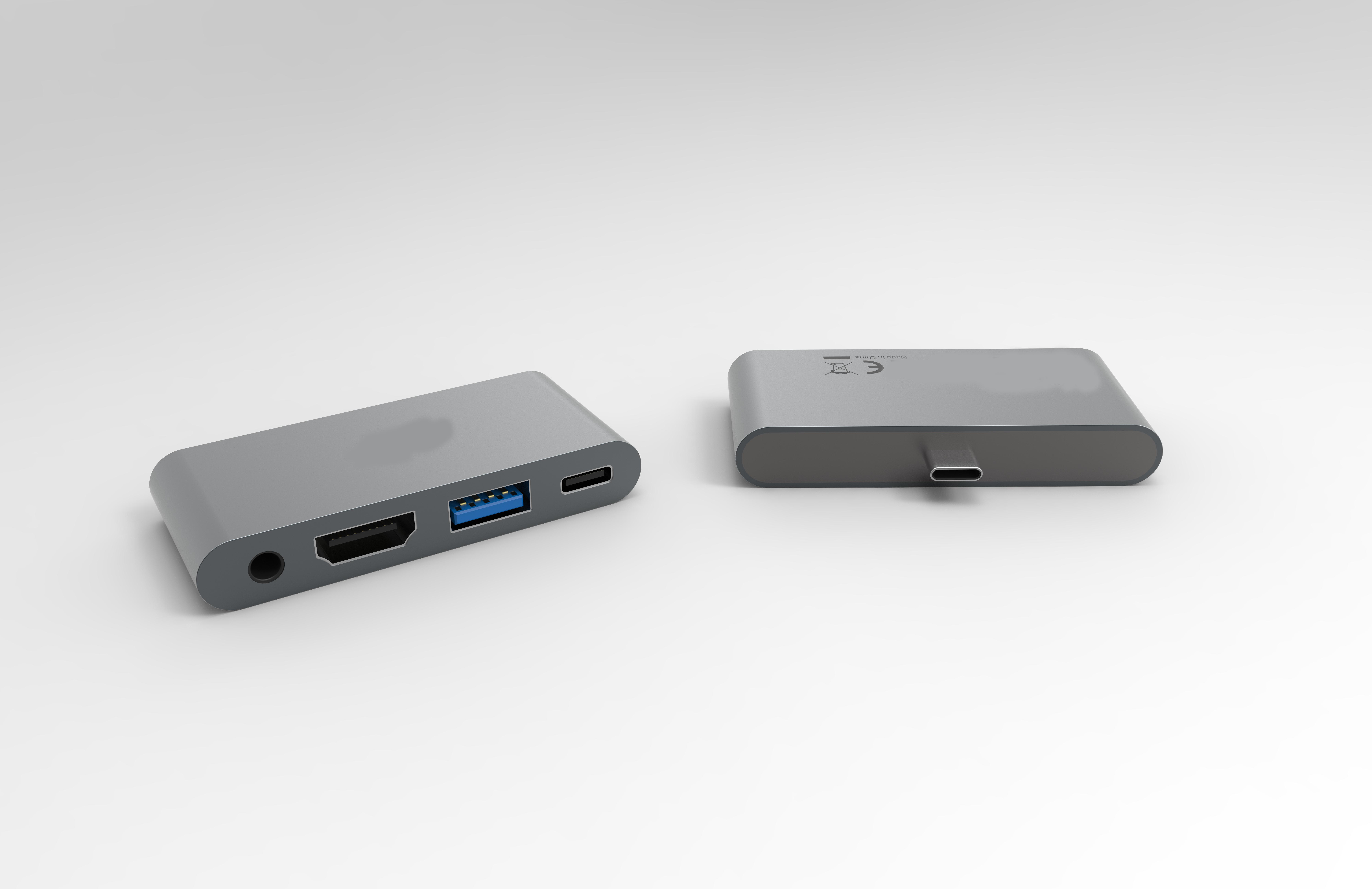铝合金4 合1 4端口扩展坞USB C HUB