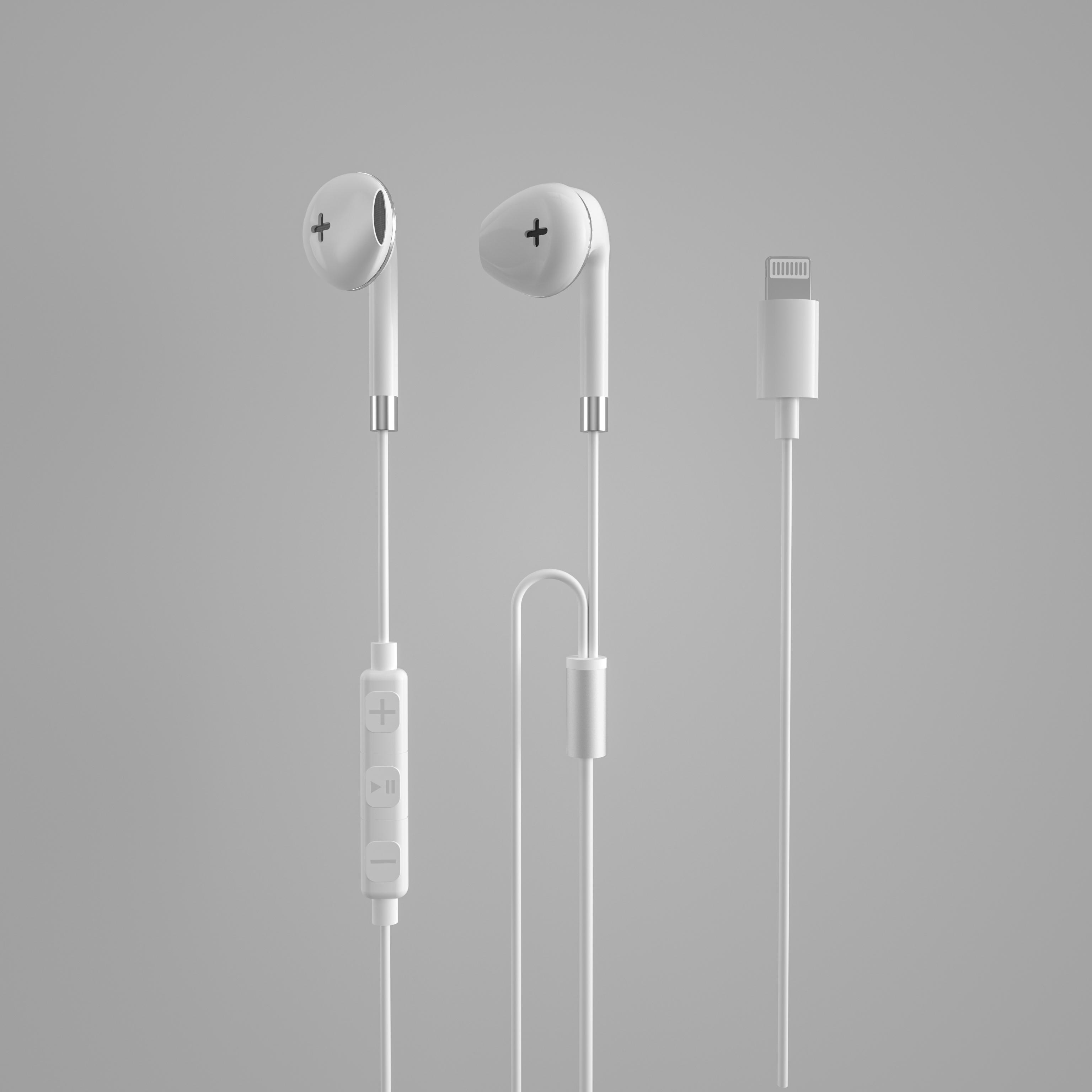 苹果MFI认证有线耳机,自带麦克风