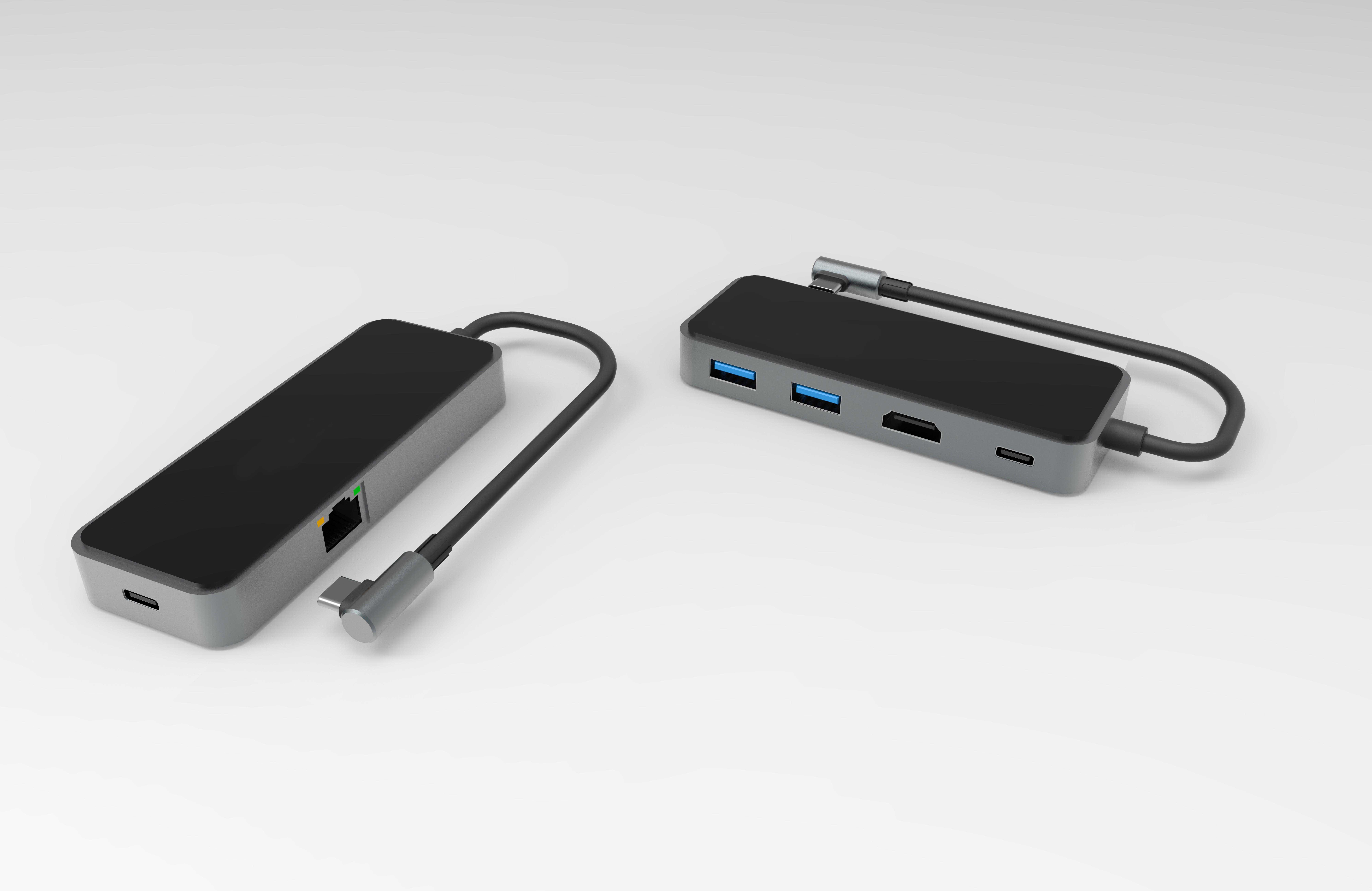 铝合金5 合 1 5端口扩展坞USB C HUB