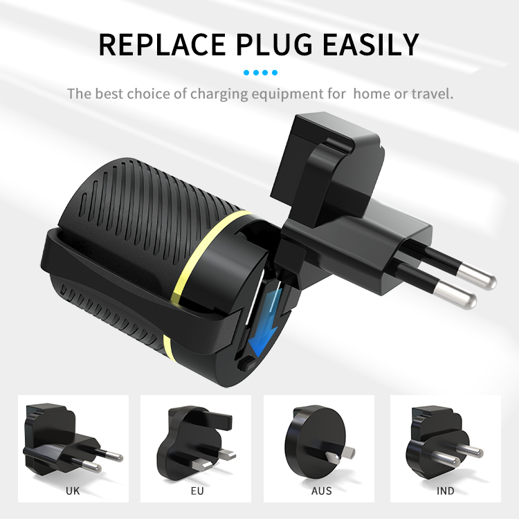 18W Type-C charger with cable slip
