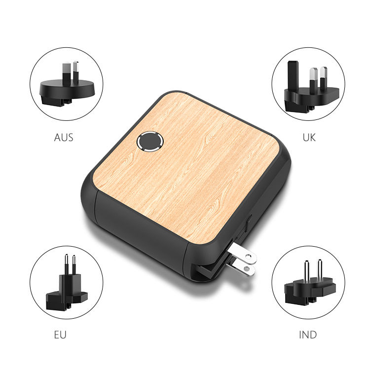 10000mah Power Bank With Travel Adapter