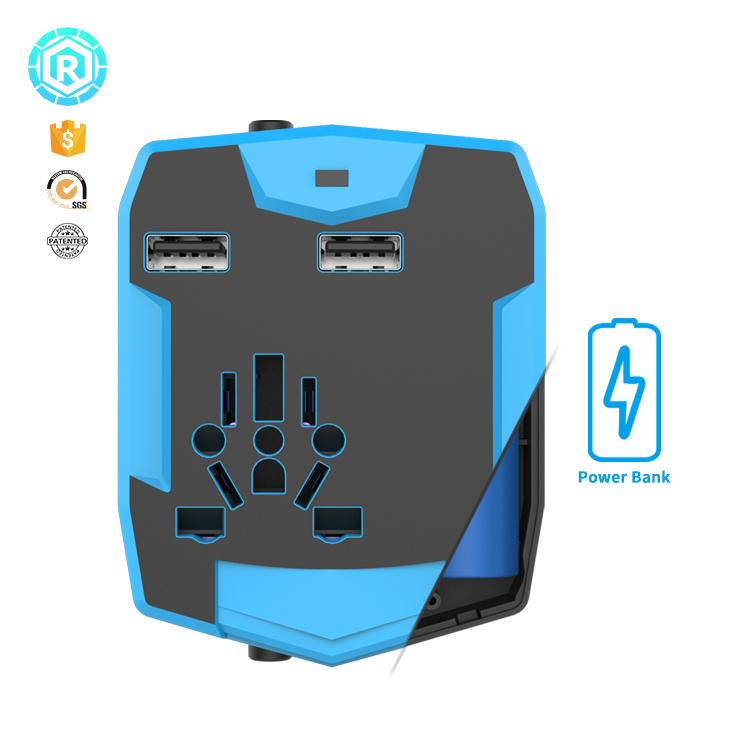 3000mah Travel Adapter With Power Bank